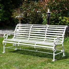 Traditional Iron Park Bench in Situ