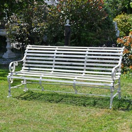 """""""Chatham"""" Park Bench Finished in White"""