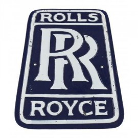"""Blue """"Rolls Royce"""" Reproduction  Vintage Sign"""