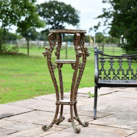 'Millicent' Victorian Rustic Cast Iron Side Table Stand - 36cm
