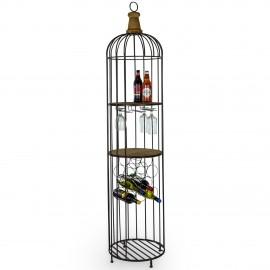 Rustic Bird Cage Shelving Unit in Situ