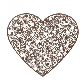 Rustic Butterfly Heart Wall Art