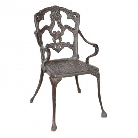 Cast Iron Victorian Chair in a Rustic Finish