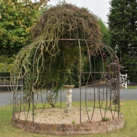 """Rustic Finish """"Alice's Folly"""" Gazebo With Ivy Feature"""
