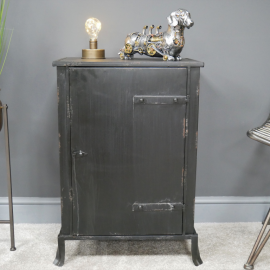Rustic Vintage Style Cabinet in Use in the Home