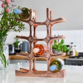 Copper 'Kempton House' Wine Rack on Kitchen Countertop