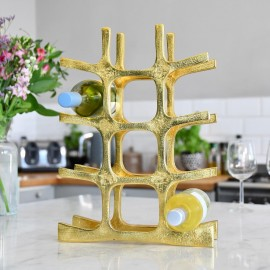 Gold 'Kempton House' Wine Rack within Kitchen Setting