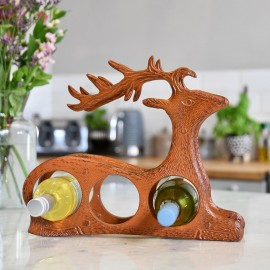 Rustic 'Laying Stag' Wine Rack