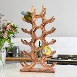 Copper 'Branches' 15 Bottle Wine Rack