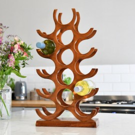 Rustic 'Branches' Wine Rack in Kitchen Setting