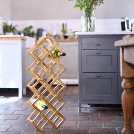 Gold 'Geometric Grid' Wine Rack in Kitchen Setting