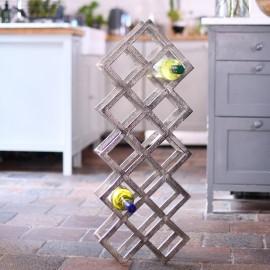 'Geometric Grid' Wine Rack Floor Standing