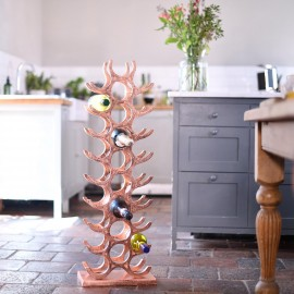 Copper 'Tuscany' Wine Rack in Kitchen Setting