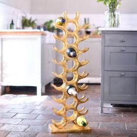 Gold 'Tuscany' Wine Rack 27 Bottles