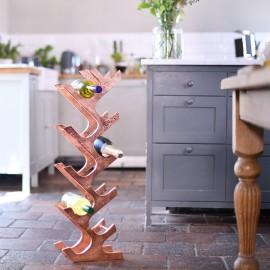 Copper 'Art Deco' Wine Rack