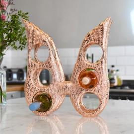 Copper 'Angel Wings' Wine Rack in Kitchen Setting