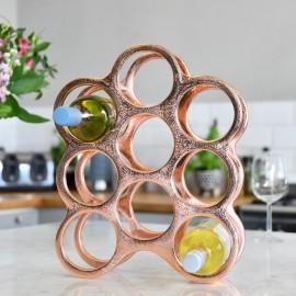 Copper 'Floating Bubbles' Wine Rack