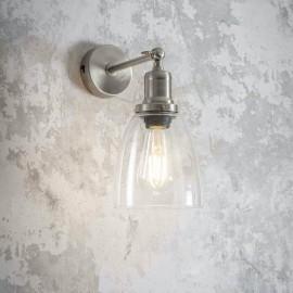 Adjustable Wall Light in Satin Nickel