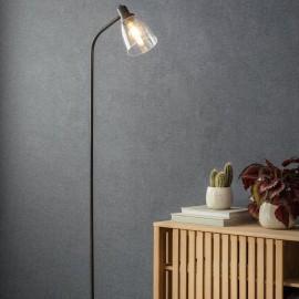 Antique Bronze Iron Floor Lamp in Situ