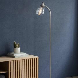 Satin Nickel Iron Floor Lamp in Situ