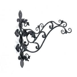 Leaf design scroll wall bracket