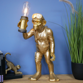 Scuba Diving Gold Monkey Table Light in Situ