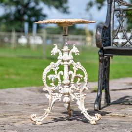 'The Serpent'  Rustic Cream Gothic Cast Iron Side Table