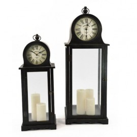 Antique Clock Candle Holders Sold in a Set of Two