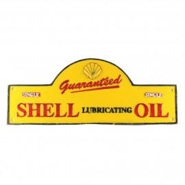 """""""Shell Lubricating Motor Oil"""" Arched Wall Sign"""