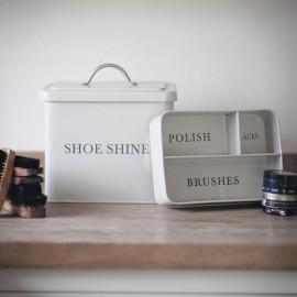 White Shoe Shine Storage Box
