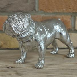 Silver Finish Bull Dog Ornament