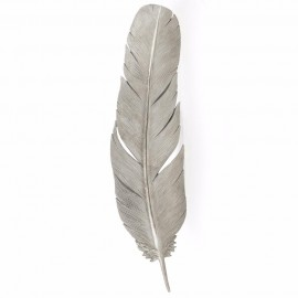 Feather Wall Art in a Silver Finish