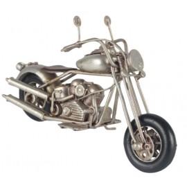 Silver Chopper Motorcycle Replica Ornament