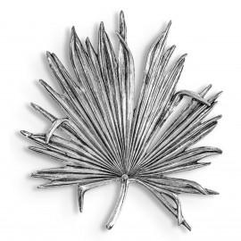 Palm Leaf Wall Art in a Silver Finish