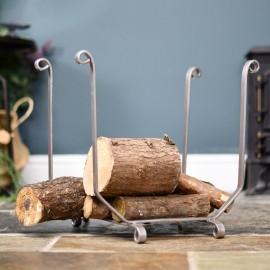 Simplistic Antique Pewter Log Holder