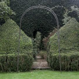 Simplistic Iron Rose Arch in Situ in the Garden