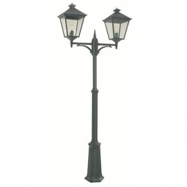 """""""Brooksby"""" Simplistic Victorian Double Head Lamp Post"""