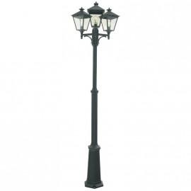 """Brooksby"" Simplistic Victorian Triple Head Lamp Post"