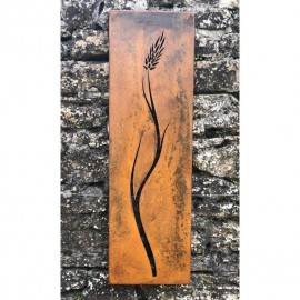 Rustic Barley Wall Art in Situon a Stone Wall
