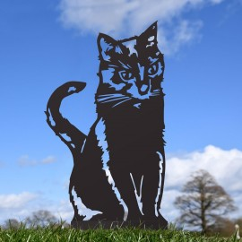 Black Sitting Cat Silhouette