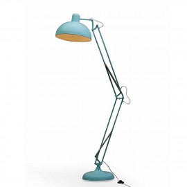 Classic Design Extra Large Floor Lamp in a Sky Blue Finish