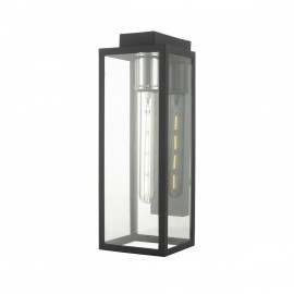 Skyscraper Outdoor Wall Light with a Chrome Bulb Holder