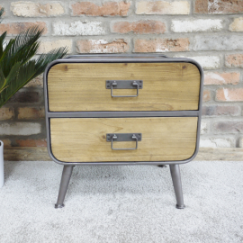 Small Industrial Two Drawer Cabinet in Situ