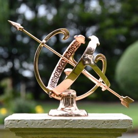 Traditional Armillary finished in a Polished Solid Copper