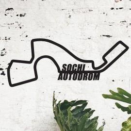 Sochi Autodrom Racing Circuit Wall Art in Situ in the Sitting Room
