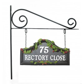 Hand painted Bramble House Sign on Wall Mounted Bracket