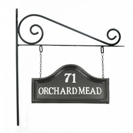 Double Sided Classic Black House Name Sign