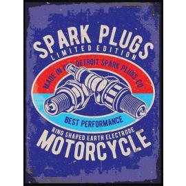 """Spark Plugs"" Metal Sign"