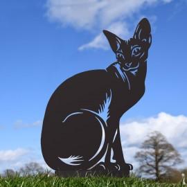 Black Sphynx Cat Silhouette