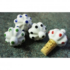 """""""Dotted Dombol"""" Ceramic Wine Stoppers"""